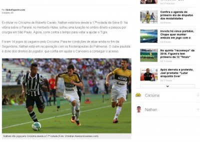 Nathan - Globo Esporte - 25/09/2016