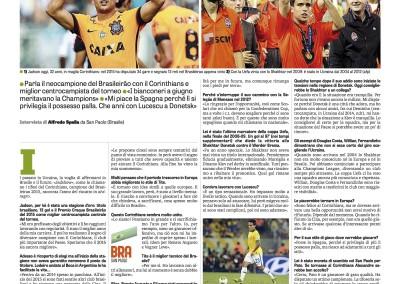 Jadson - La Gazzetta dello Sport - 15/12/2015