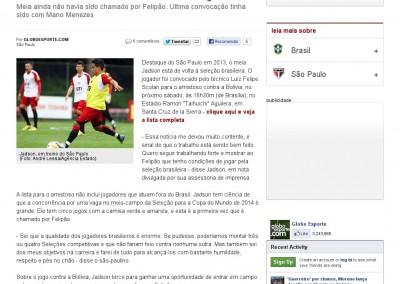 Jadson - Globo Esporte - 02/04/2013