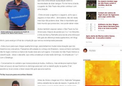 Aloisio - Globo Esporte - 25/11/2013