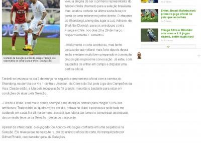 Diego Tardelli - Globo Esporte - 25/03/2015