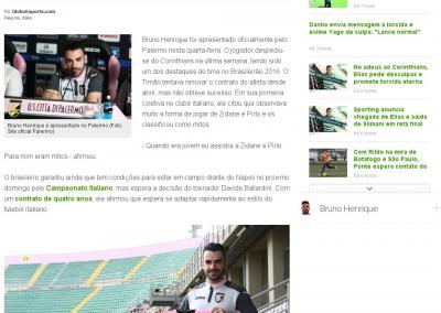 Bruno Henrique - Globoesporte.com - 31/08/2016
