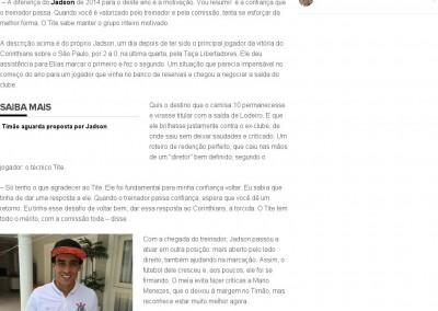 Jadson - Globo Esporte - 20/02/2015