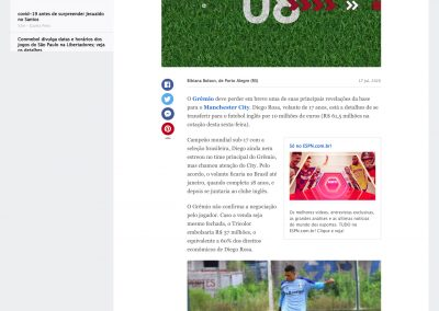 Diego Rosa - ESPN - 17/07/2020