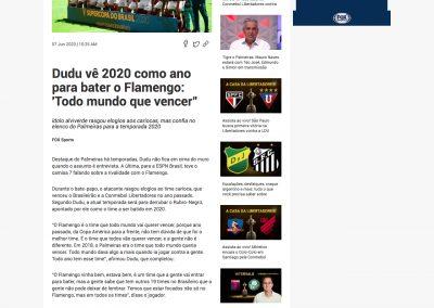 Dudu - Fox Sports - 07/06/2020
