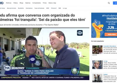 Dudu - Fox Sports - 13/01/2020