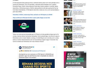Dudu - Fox Sports - 26/08/2019