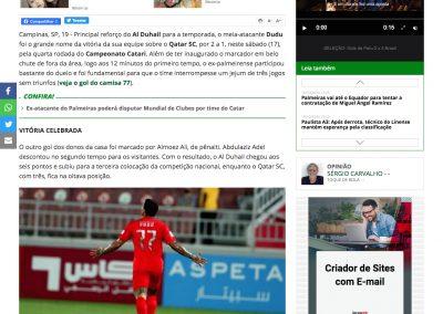 Dudu - Futebol Internacional - 19/10/2020