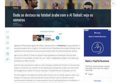 Dudu - Gazeta Esportiva - 22/02/2021