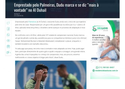 Dudu - Gazeta Esportiva - 22/12/2020