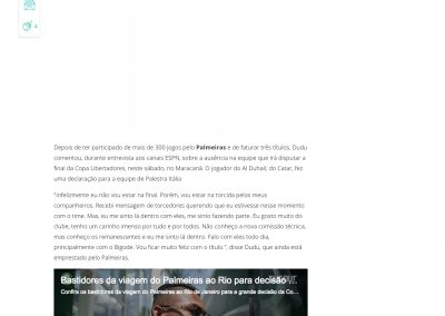 Dudu - Gazeta Esportiva - 28/01/2021
