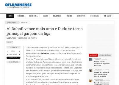 Dudu - O Fluminense - 06/03/2021