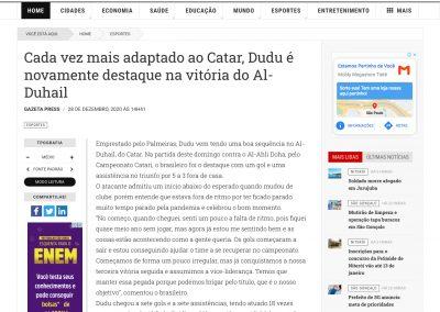 Dudu - O Fluminense - 28/12/2020