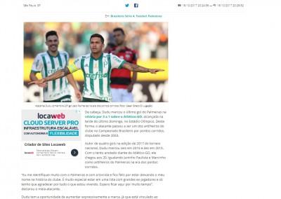 Dudu - Gazeta Esportiva.net - 16/10/2017