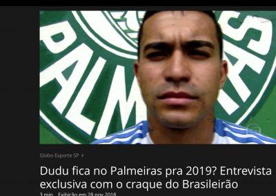 Dudu - Globo Esporte - 28/11/2018