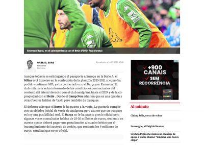 Emerson - Mundo Deportivo - 14/07/2020
