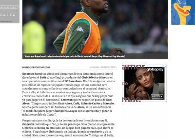 Emerson - Mundo Deportivo - 12/04/2020