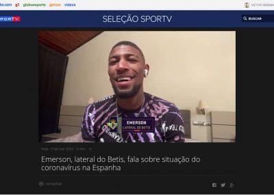Emerson - Seleção Sportv - 17/03/2020