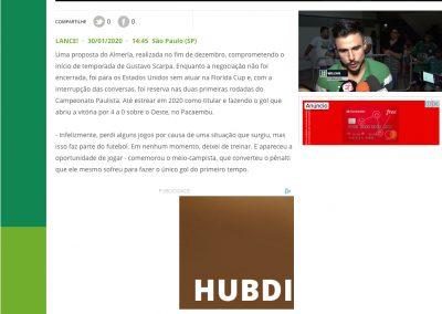 Gustavo Scarpa - Lance - 30/01/2020