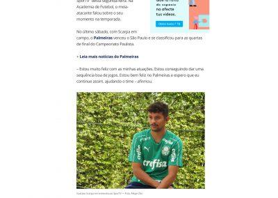 Gustavo Scarpa - Seleção Sportv - 18/03/2019