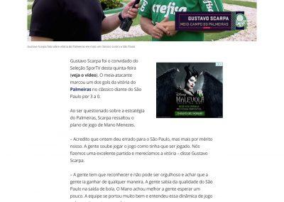 Gustavo Scarpa - Seleção Sportv - 31/10/2019