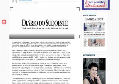 Jadson - Diário do Sudoeste - 10/02/2021