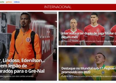 João Peglow - Destaque Globoesporte.com - 29/10/2019