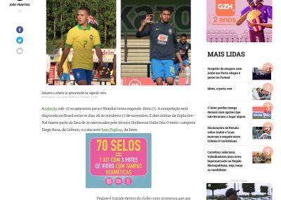 João Peglow - Gaúcha Zero Hora - 04/10/2019