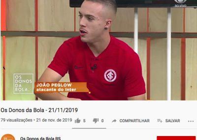 João Peglow - Os Donos da Bola - 21/11/2019