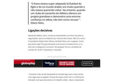 Keno - Globoesporte.com - 11/07/2020