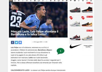 Luiz Felipe - Calcio Mercato - 08/05/2020