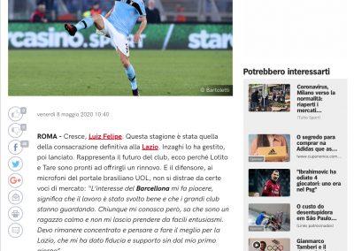Luiz Felipe - Corriere Dello Sport - 08/05/2020