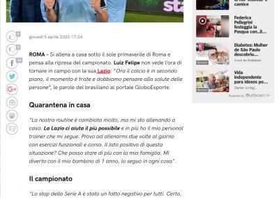 Luiz Felipe - Corriere Dello Sport - 09/04/2020
