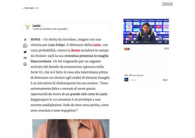 Luiz Felipe - Corriere Dello Sport - 15/01/2021