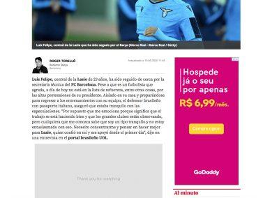 Luiz Felipe - Mundo Deportivo - 10/05/2020