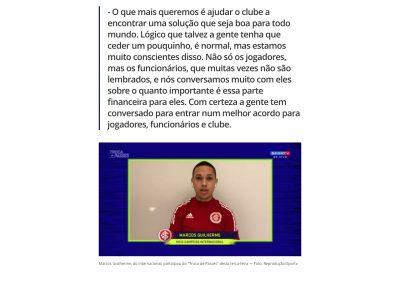 Marcos Guilherme - Troca de Passes - 21/04/2020