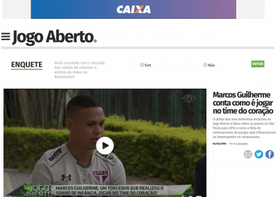 Marcos Guilherme - Jogo Aberto - 02/02/2018
