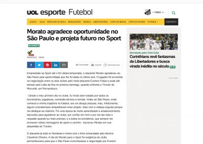 Morato - UOL - 08/08/2018