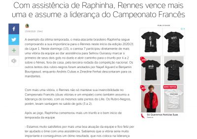Raphinha - Uol - 13/09/2020
