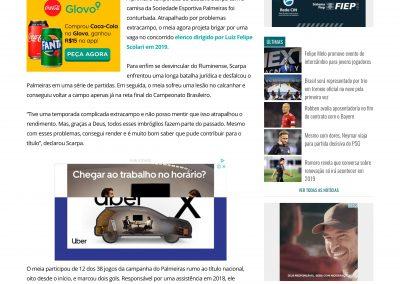 Gustavo Scarpa - Gazeta Esportiva - 06/12/2018