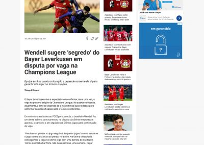 Wendell - Fox Sports - 19/06/2020