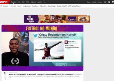 Wesley - Futebol no Mundo - 10/10/2019