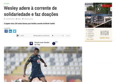 Wesley - Jornal Cruzeiro do Sul - 11/04/2020