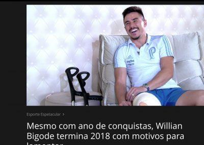 Willian - Esporte Espetacular - 30/12/2018