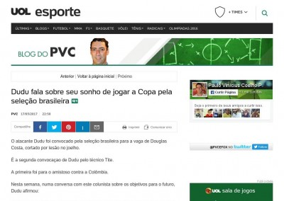 Dudu - Blog do PVC - 17/03/2017