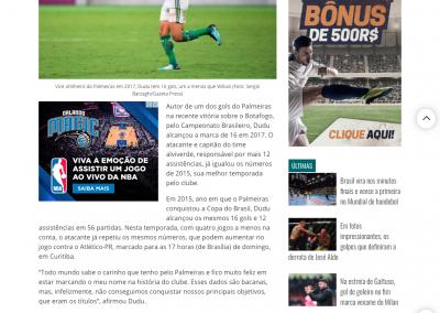 Dudu - Gazeta Esportiva - 29/11/2017