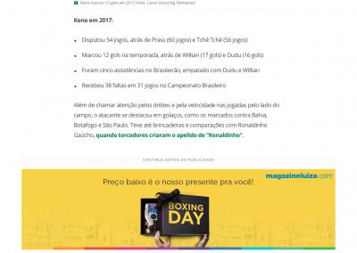 Keno - GloboEsporte.com - 27/12/2017
