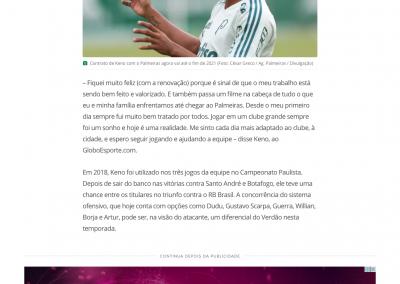 Keno - GloboEsporte.com - 28/01/2018