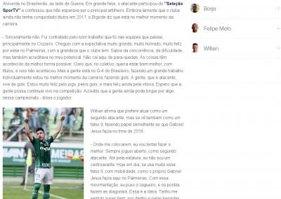 Willian - Seleção Sportv - 28/08/2017