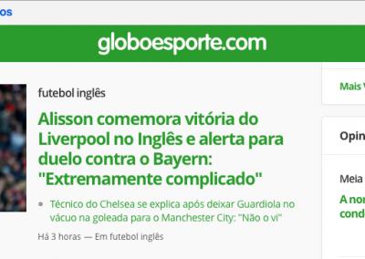 Alisson - Destaque Globoesporte.com - 11/02/2019